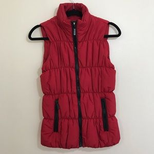 Michael Kors Red Puffer Vest Size Small